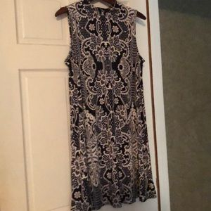 Tiana B Navy and White Dress. Size Med. Like new